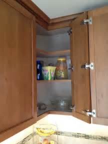 corner kitchen cabinet solution easy access hinges