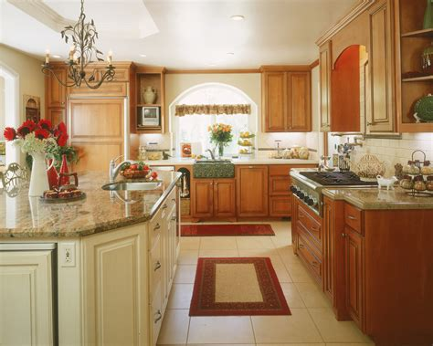 Light Oak Cabinets Kitchen Rustic With Breakfast Bar