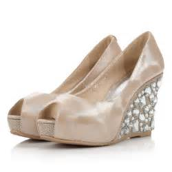 wedding shoes for wedges bridal wedges with rhinestones wedding shoes