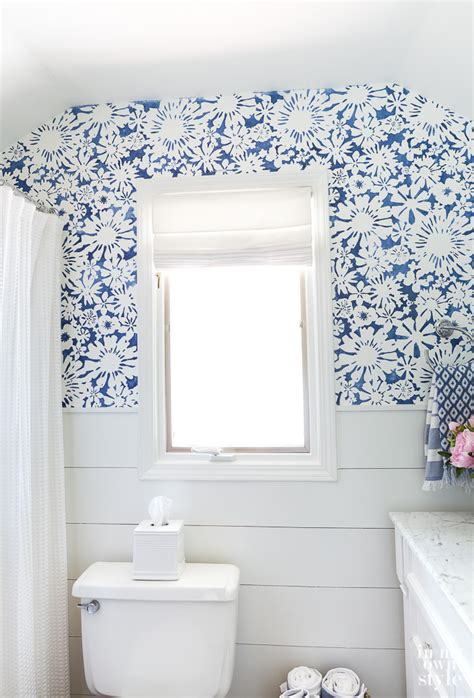 bathroom wall stencil ideas in my own style thrifty diy decorating ideas for your