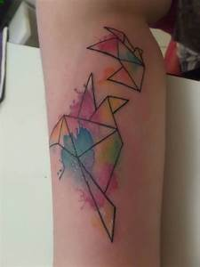 tatuaje de pajaros acuarela, watercolor bird, geometrical tattoo, ink Tatooooo Pinterest