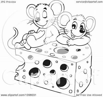 Cheese Mice Clipart Wedge Illustration Royalty Vector