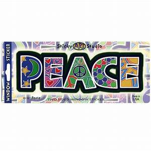 peace letters art decal window sticker With peace letters