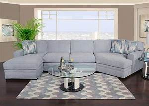 poseidon ii 3 piece chaise sectional with cuddler future With sectional sofa with chaise and cuddler