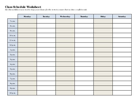 5 Best Images Of College Class Schedule Printable  Class Schedule Maker Template, College Class