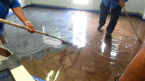 epoxy flooring how to how to roll out metallic epoxy flooring youtube