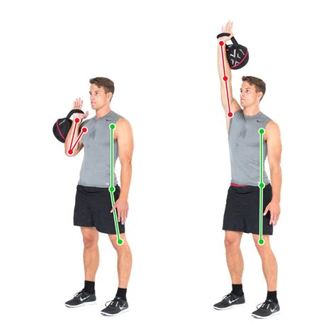 kettlebell shoulder arm exercise lift muscles press training handle gymbox