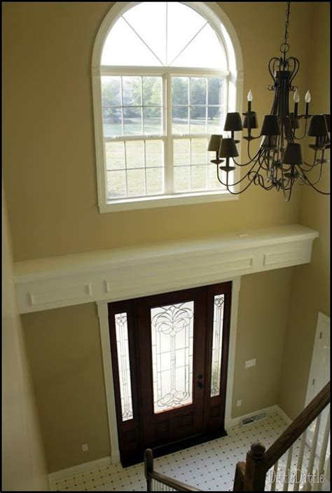 shelf  recessed lighting  entry door diy home