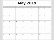 May 2019 Printable Calendar 2018 calendar with holidays