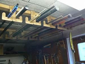 Rangement Suspendu Plafond Garage : rangement de nos cannes p che ~ Melissatoandfro.com Idées de Décoration