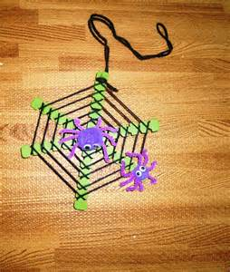 green tree earrings spider and web craft for kids to make