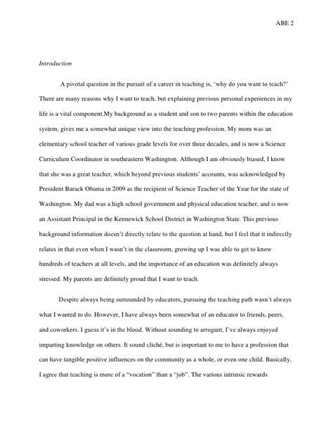 essay of teacher autobiographical essay