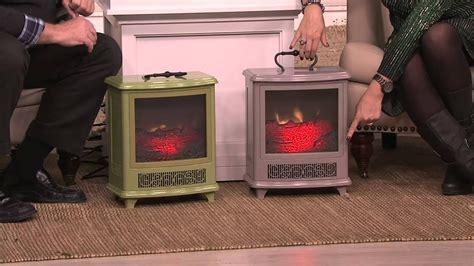 duraflame portable stove heater whandle flame effect