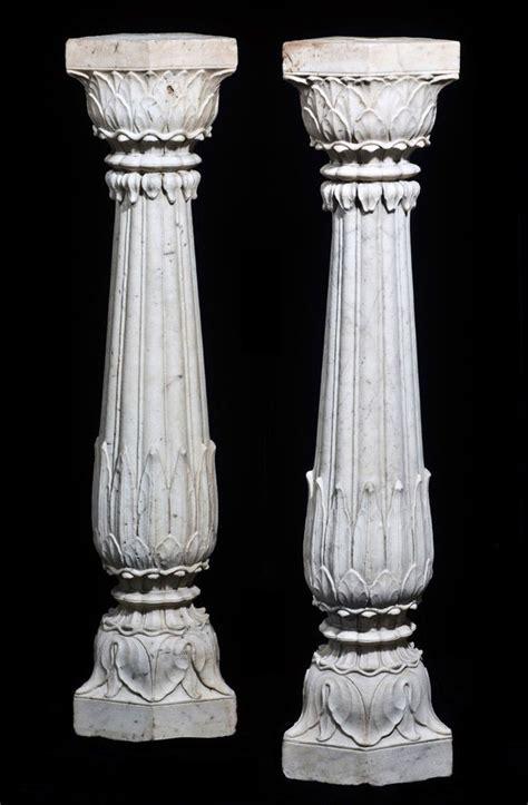 marble columns india mughal  century acanthus