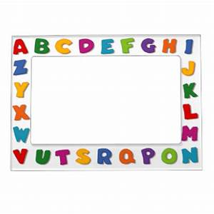 letter magnetic picture frames zazzle With letter a picture frame