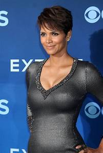 halle berry and olivier martinez at extant premiere lainey