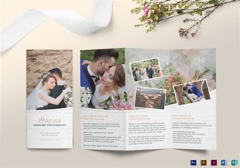 Wedding Free Tri Fold Psd Brochure Template By Tri Fold Wedding Brochure Design Template In Psd Word