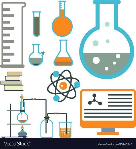 laboratorio test lab symbols test laboratory scientific vector image
