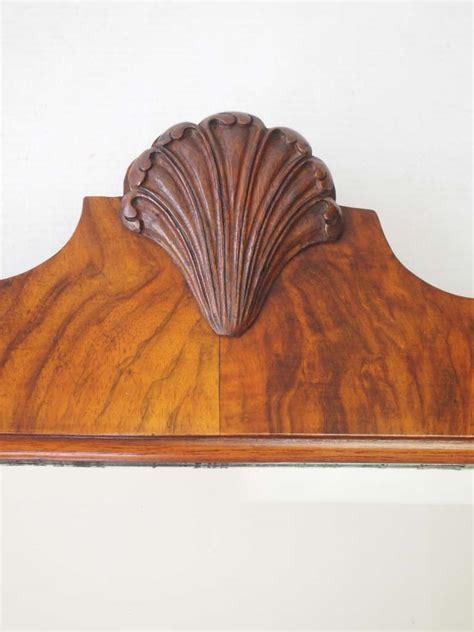 Art Deco Walnut Framed Shell Carved Mirror