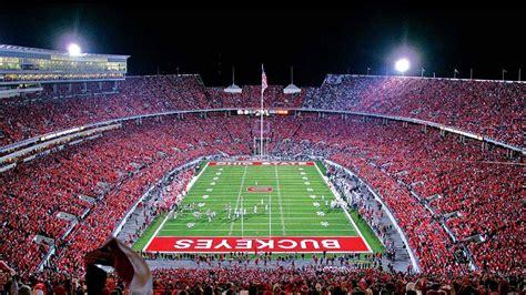 buckeyes ohio state stadium  players  audience hd
