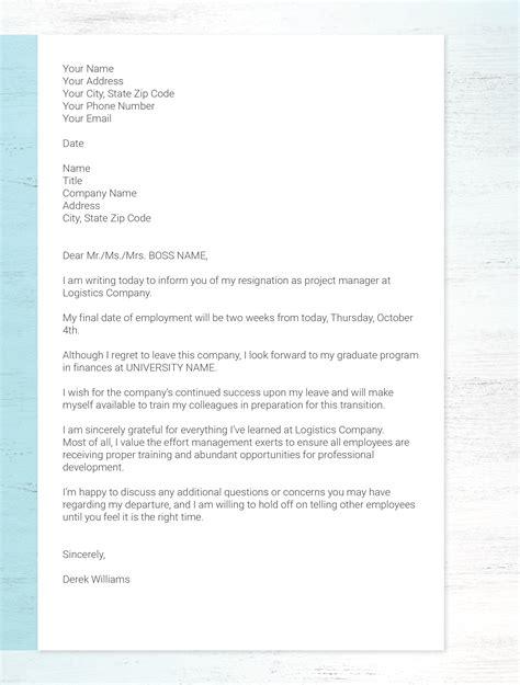 write  resignation letter  stay respectful