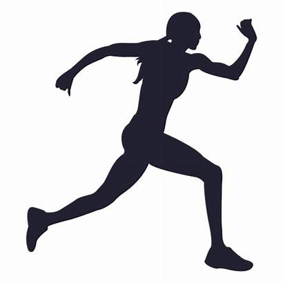 Silhouette Silueta Mujer Female Corriendo Running Atleta