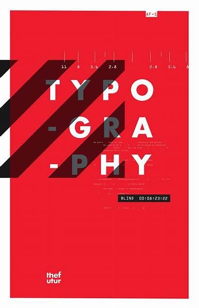 Posters Typographic Futur Behance Poster Typography Graphic