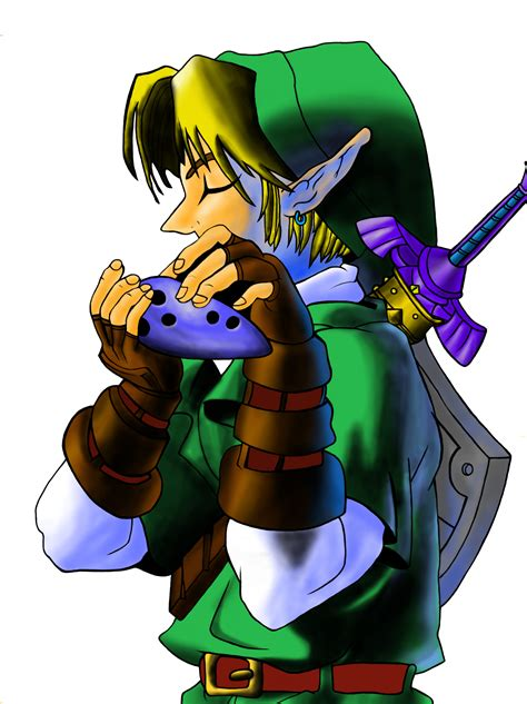 Legend Of Zelda Ocarina Of Time Link Photoshopped By
