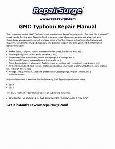 Gmc Typhoon Repair Manual 1992 1993