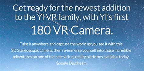 yi s horizon vr180 captures 100 images yi technology