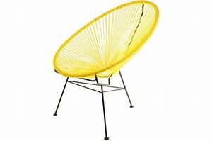 Design Fauteuil Pas Cher : fauteuil la chaise longue jaune acapulco fauteuil design pas cher ~ Teatrodelosmanantiales.com Idées de Décoration
