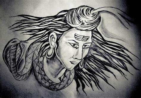 Lord Shiva Sketching Kush Sahani Pencil Drawings