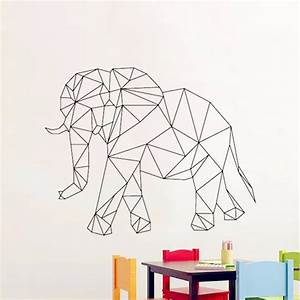 Baby Wall Decals Geometric elephant Wall Sticker for kids