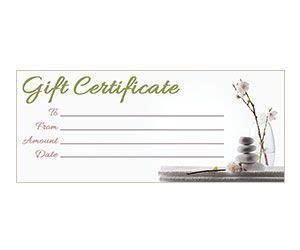 orchid zen gift certificate    printable