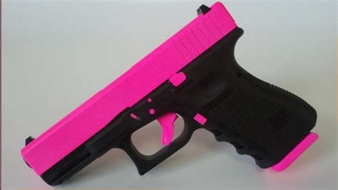 colored pistols gun focus on gun color is farcical