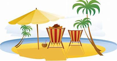 Vacation Clipart Resort Transparent Travel Relax Seaside