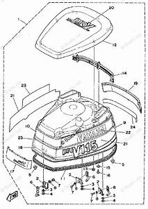 Yamaha Outboard Parts By Hp 115hp Oem Parts Diagram For
