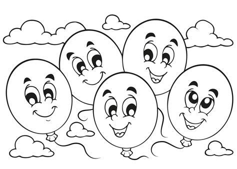 Kleurplaat Ballon Met Mandje En Baby by Kleurplaat Feest 29 Kleurplaten Voor Tijdens Een Kinderfeest