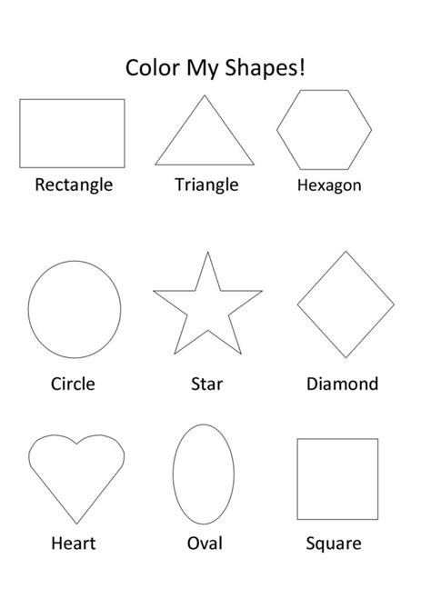 coloring pages preschool shapes coloring pages crescent