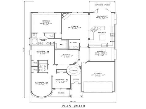 5 bedroom house plan 4 bedroom one house plans 5 bedroom one