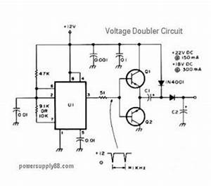12v dc voltage doubler circuit circuit diagram world With converter 12v