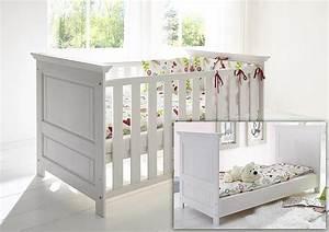 Kleinkind Bett 70x140 : babybett 70x140 83x80x147cm mit juniorbett seiten kiefer massiv wei gewachst ~ Whattoseeinmadrid.com Haus und Dekorationen
