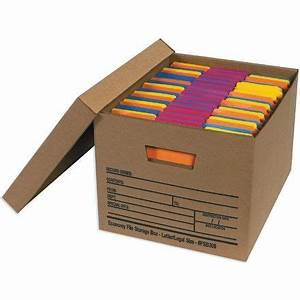 office file boxes may be used to organize files and With box for important documents