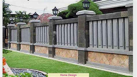 desain pagar rumah mewah youtube