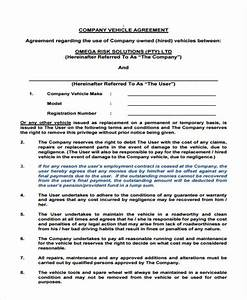 Employee vehicle use agreement template 28 images car for Employee vehicle use agreement template