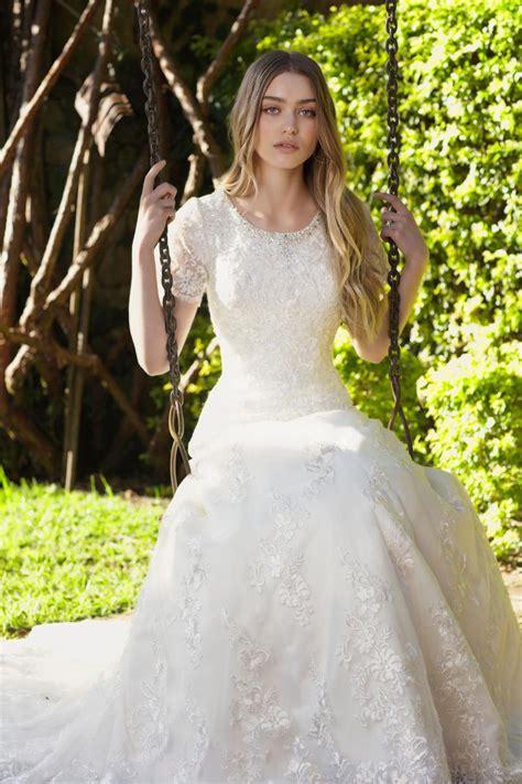 lace bohemian modest wedding dresses  short