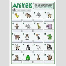 Twenty Animals  Follow My Worksheets On Islcollective  Pinterest  Animal, English And Worksheets
