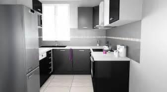 cuisine gris et noir beautiful cuisine americaine noir et blanc ideas design