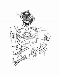 Engine  Cutting Deck  Blade Diagram  U0026 Parts List For Model