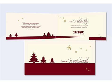 firmen weihnachtskarte tannenzauber